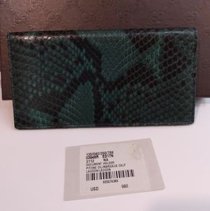 Gucci Python Snakeskin Long Wallet